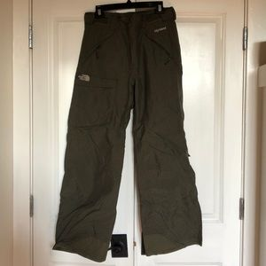 North face snowboard pants olive army green